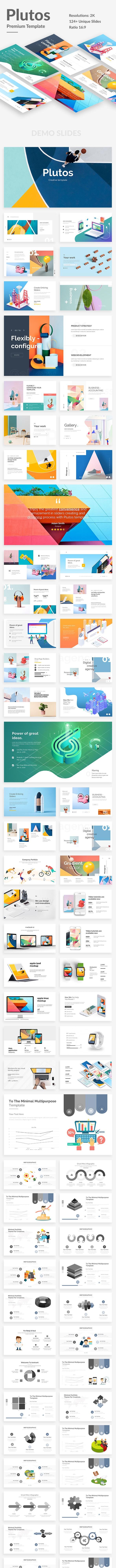 Plutos Premium Design Google Slide Template - Google Slides Presentation Templates