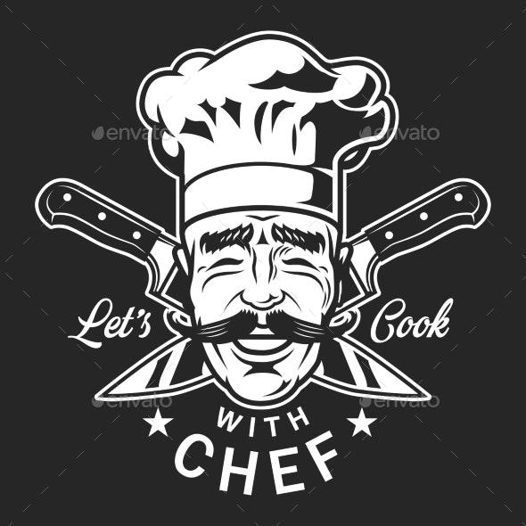 Vintage Cooking Monochrome Label - Miscellaneous Vectors