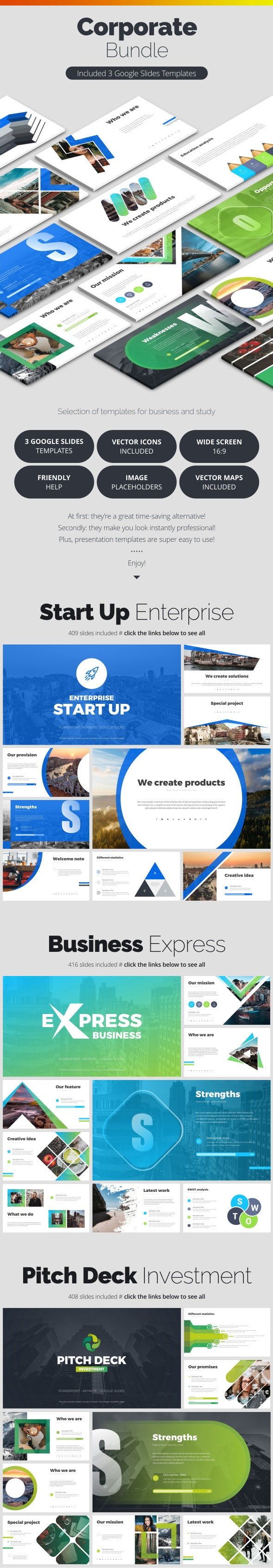 Corporate Bundle - Google Slides Presentation Templates