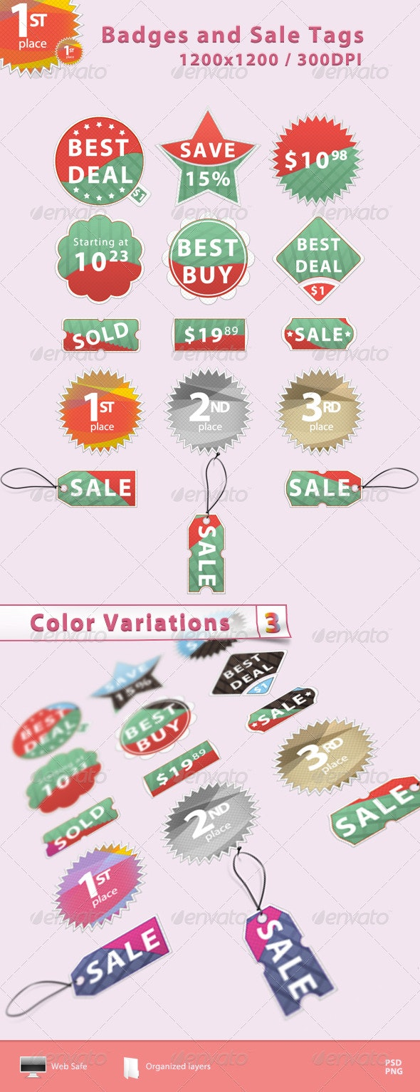 Badges and Sale Tags - Badges & Stickers Web Elements