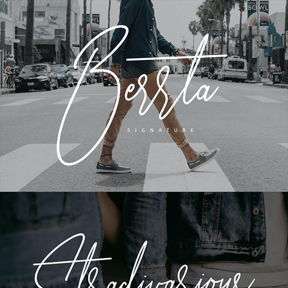 Berrta Signature Typeface