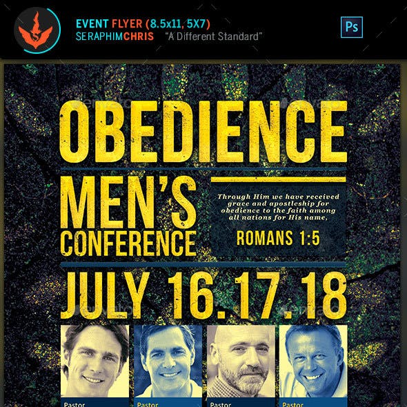 Obedience Men's Conference Church Flyer Template