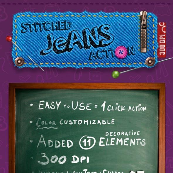 Stitched Jeans Action - 300 DPI