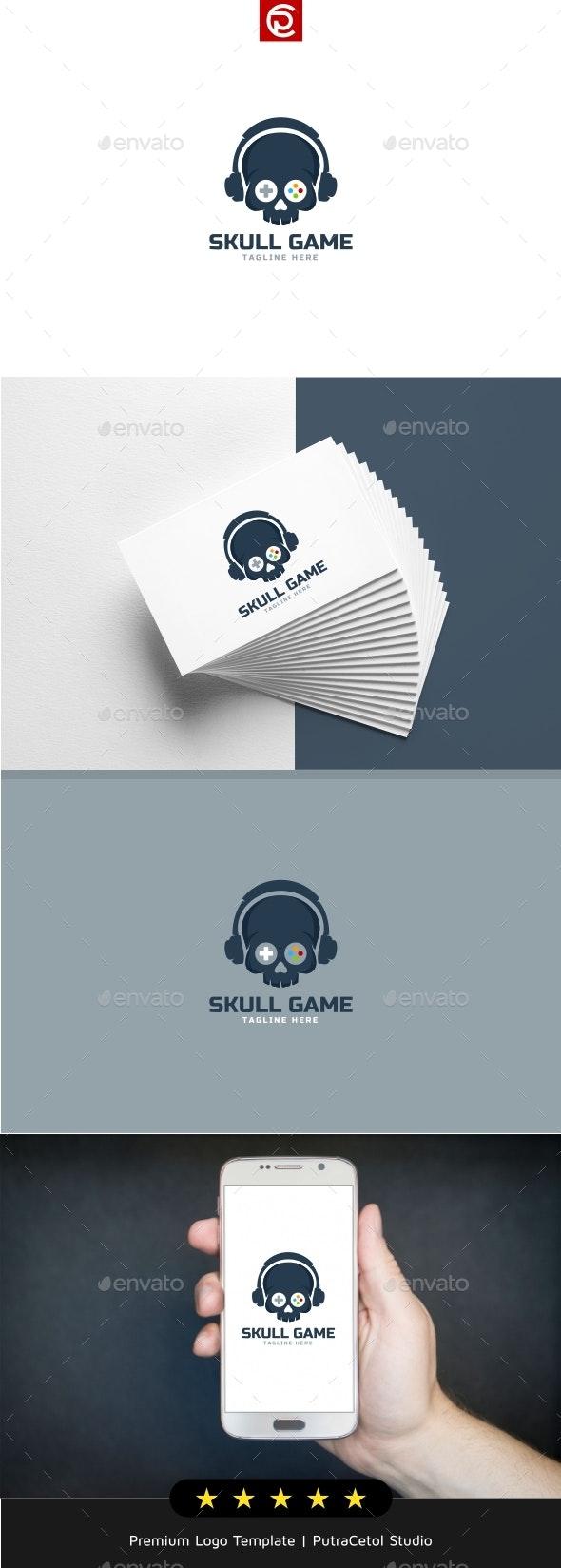 Skull Game Logo - Objects Logo Templates