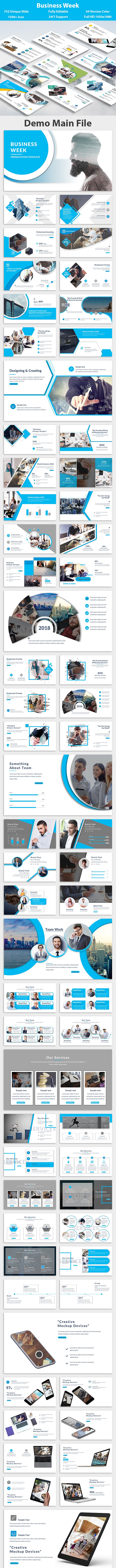 Business Week PowerPoint Template - Creative PowerPoint Templates