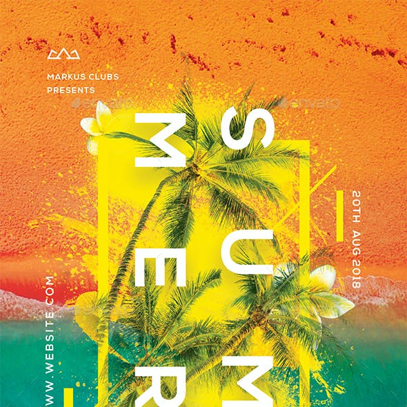 Summer Party Creative Flyer