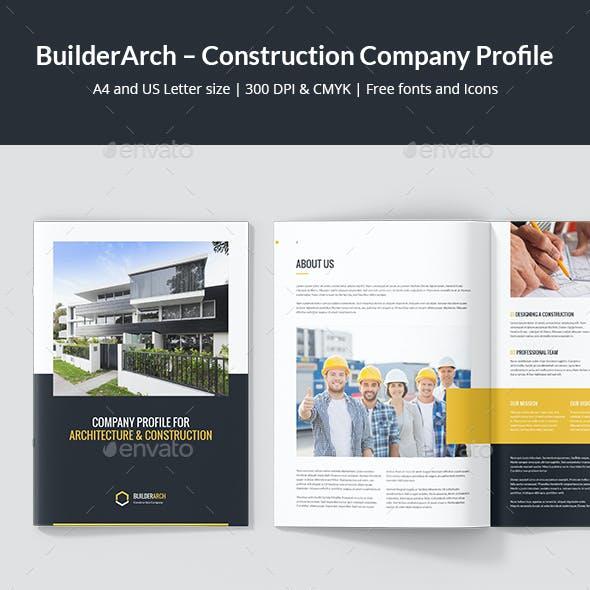 BuilderArch – Construction Company Profile