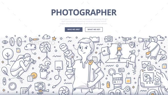 Photographer Doodle Concept - Miscellaneous Conceptual