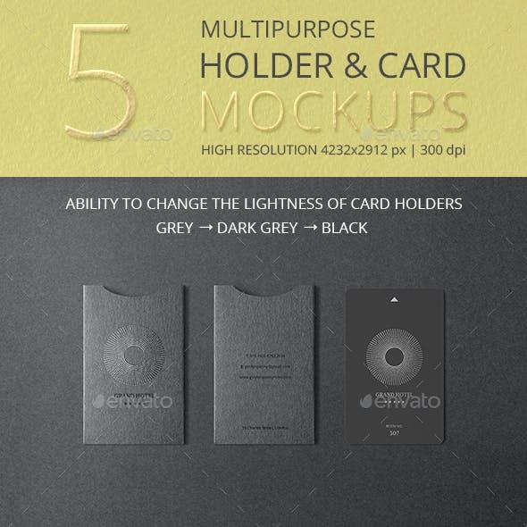 Multipurpose Holder & Card Mockup Vol 5.0