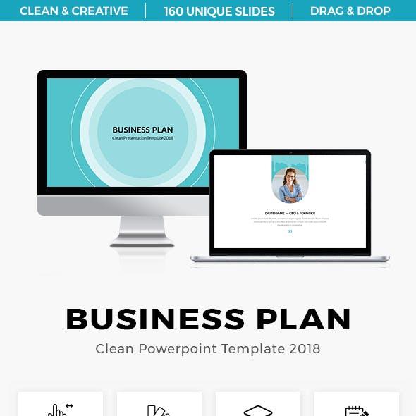 Business Plan Clean Presentation Template 2018