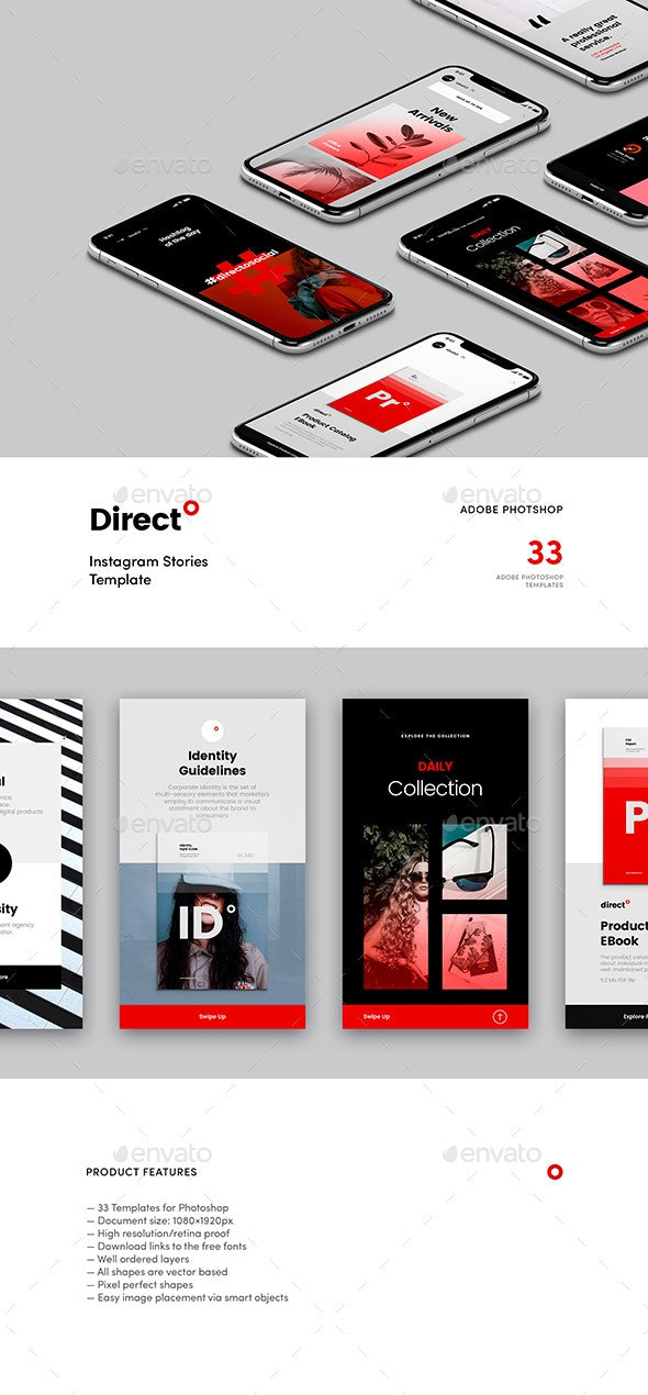 Direct — Instagram Story Templates by idealUI | GraphicRiver