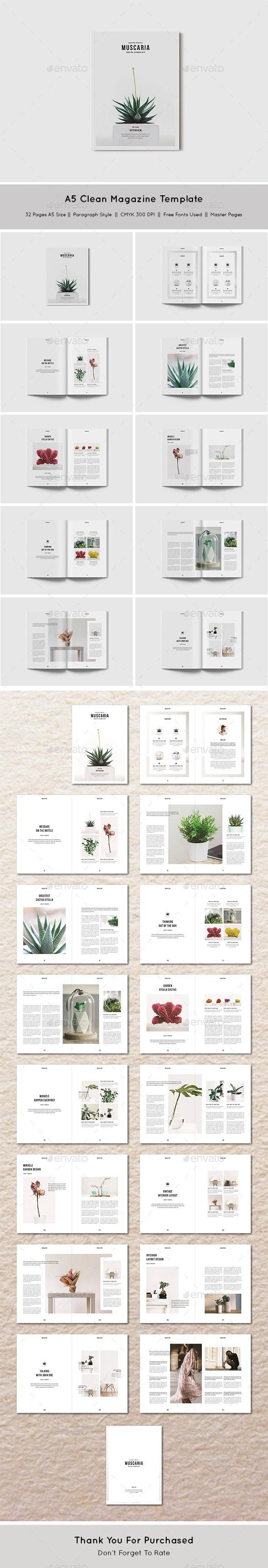 A5 Clean & Simple Magazine - Magazines Print Templates