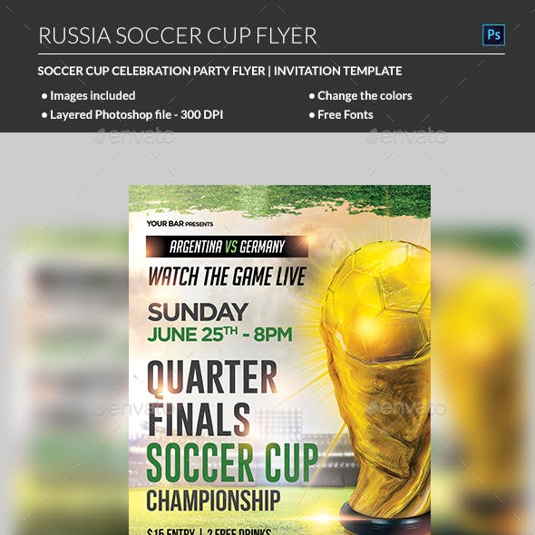 Russia Soccer Cup Flyer