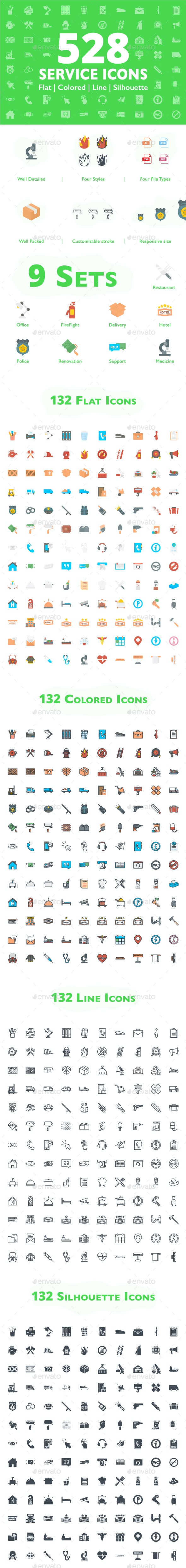 528 Service Icons - Icons