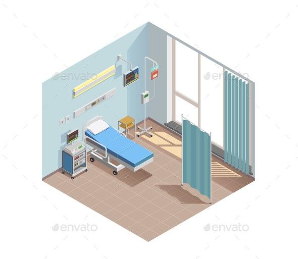 Resuscitation Room Isometric Composition - Health/Medicine Conceptual