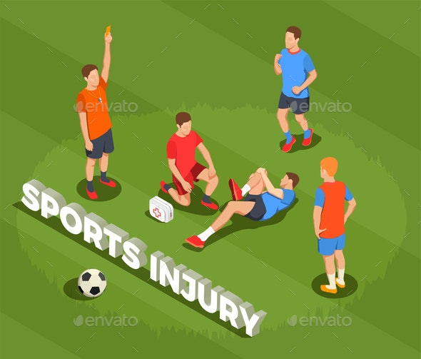Football Sports Injury Background - Health/Medicine Conceptual