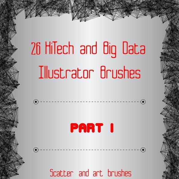 26 HiTech and Big Data Brushes - Technology Illustrator Brushes - Part 1