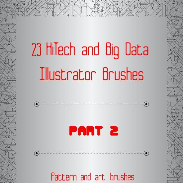 23 HiTech and Big Data Brushes -  Technology Illustrator Brushes - Part 2