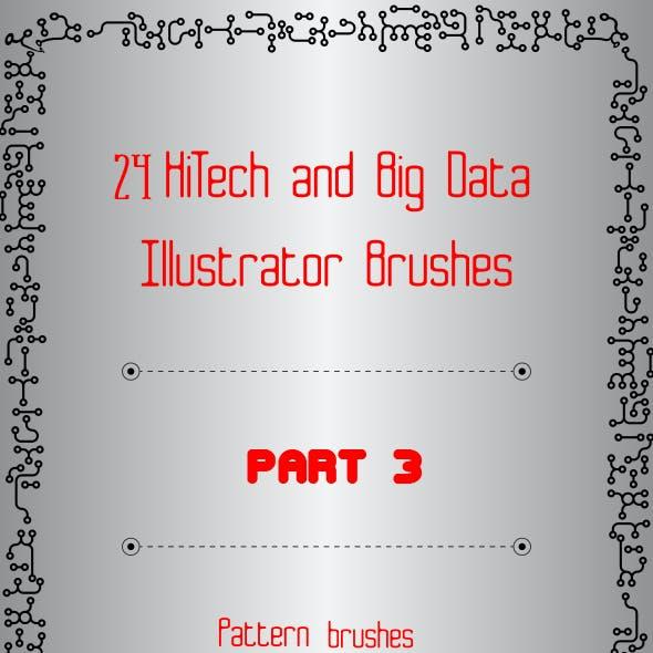 24 HiTech and Big Data Brushes - Technology Illustrator Brushes - Part 3