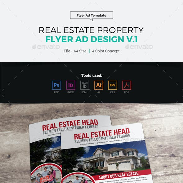 Real Estate Flyer Ad Design v1
