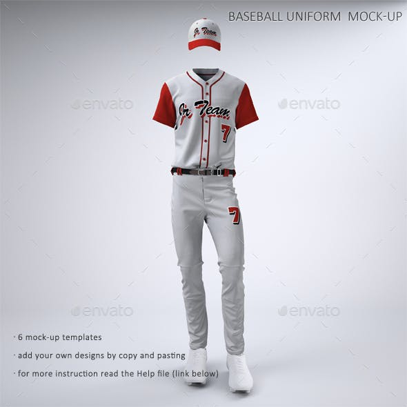 Baseball Team Jerseys and Uniform Mock-up