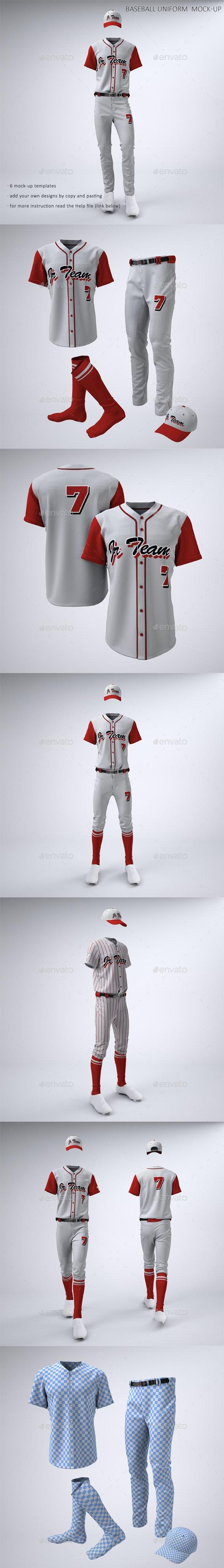 Baseball Team Jerseys and Uniform Mock-up - Apparel Product Mock-Ups