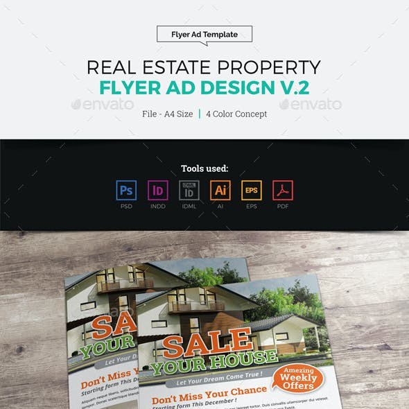 Real Estate Flyer Ad Design v2