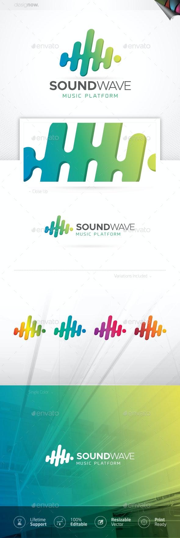 Sound Wave Logo - Company Logo Templates