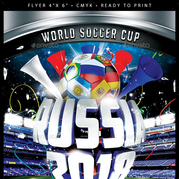 Russia 2018 Flyer Template PSD