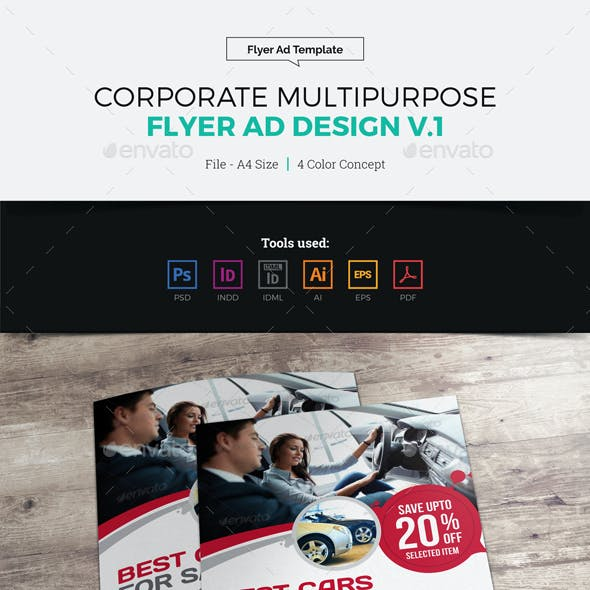 Corporate Multipurpose Flyer Ad Design v1