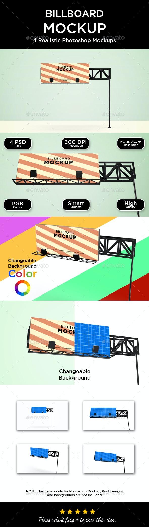 Billboard Mockup - V2 - Print Product Mock-Ups