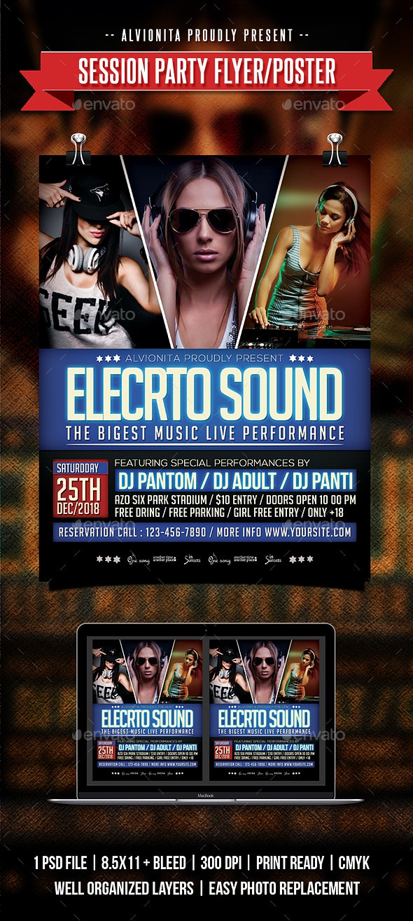 Session Party Flyer / Poster - Clubs & Parties Events