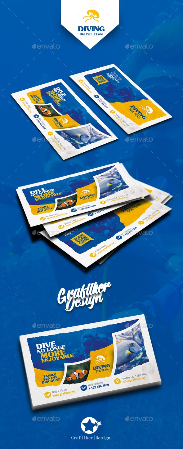 Ocean Diving Business Card Templates - Corporate Business Cards
