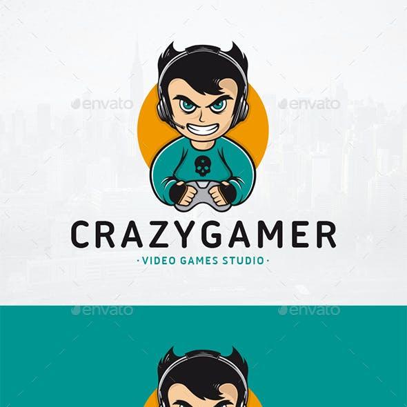 Crazy Gamer Logo Template