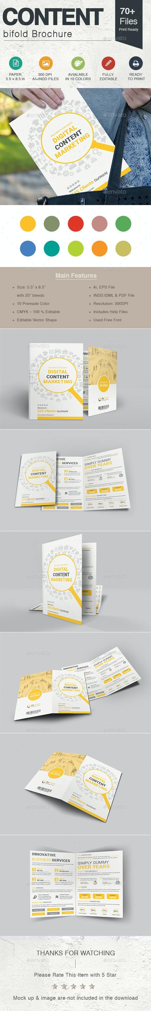Content Marketing Bi-fold Brochure - Corporate Brochures