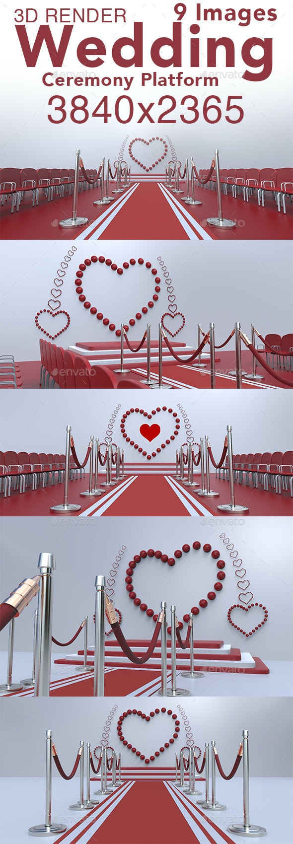 Wedding Ceremony Platform - 3D Backgrounds