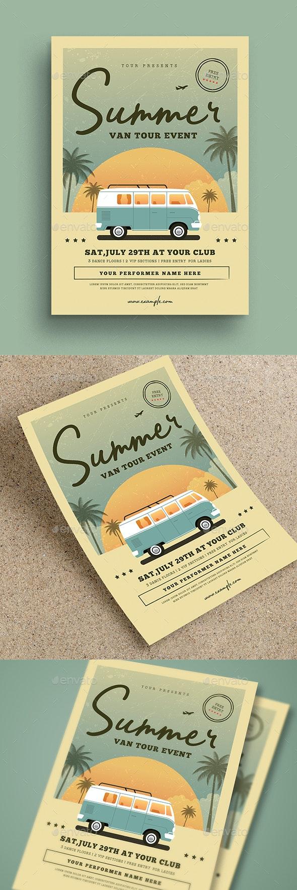 Vintage Summer Event Flyer - Events Flyers