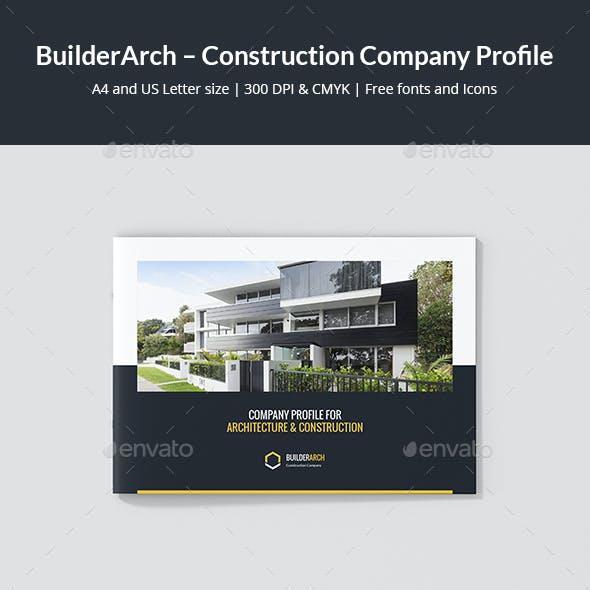 BuilderArch – Construction Company Profile Landscape