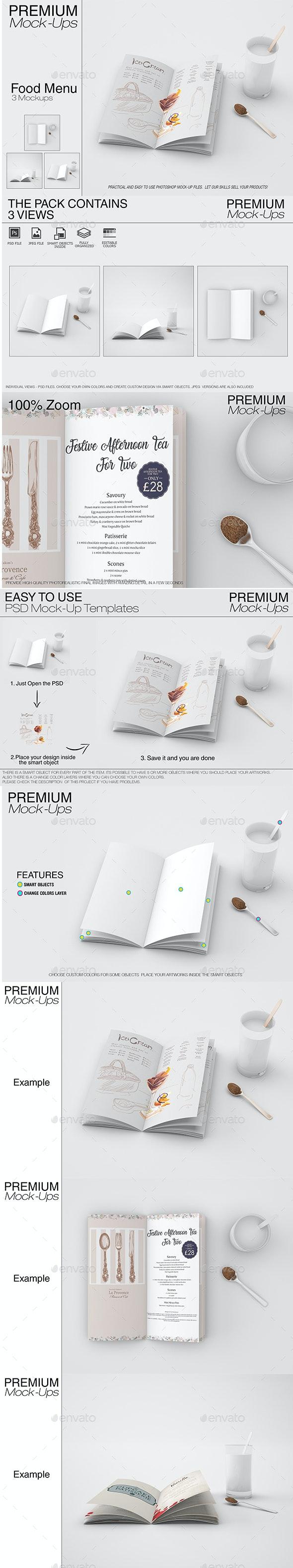 Food & Drink Menu Mockup Set - Print Product Mock-Ups