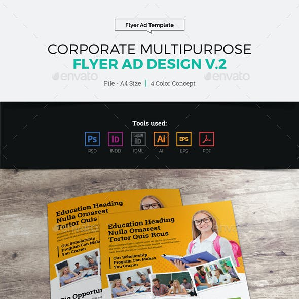 Corporate Multipurpose Flyer Ad Design v2
