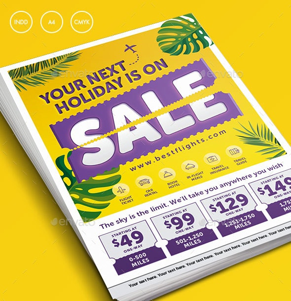 Tropical Summer Holiday Sale Flyer - Commerce Flyers