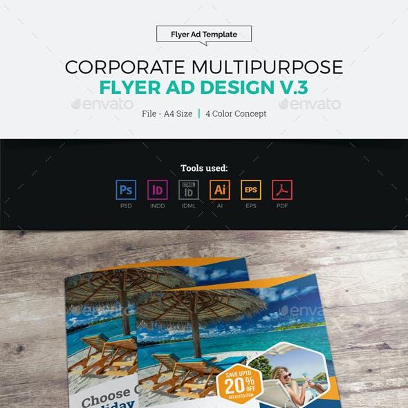 Corporate Multipurpose Flyer Ad Design v3