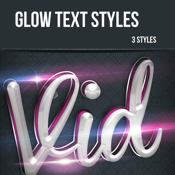 Glow Text Styles