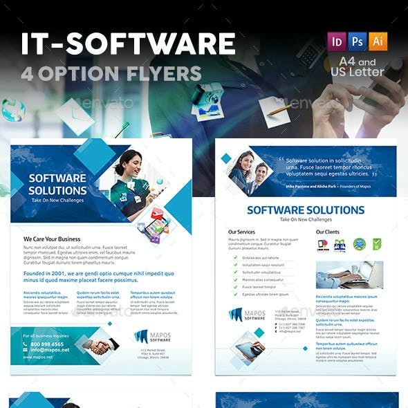 IT – Software Flyers – 4 Options