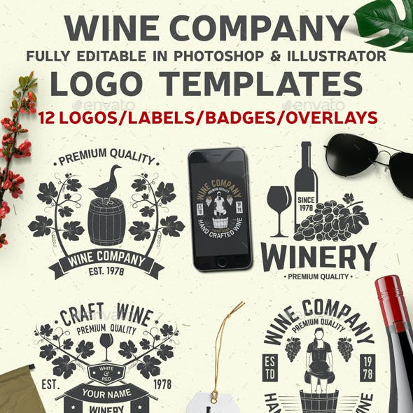 Wine Company Templates