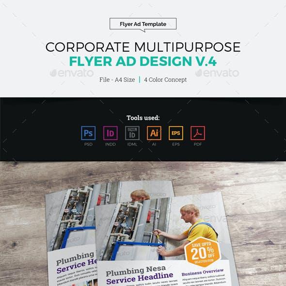 Corporate Multipurpose Flyer Ad Design v4