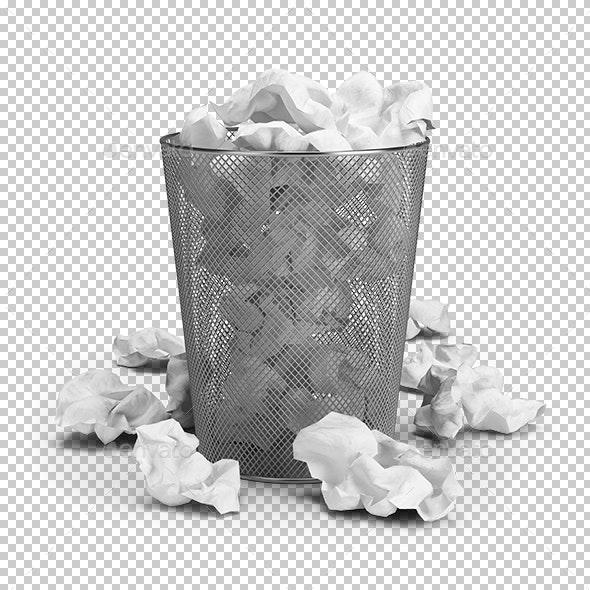 Wastepaper Basket - Objects 3D Renders