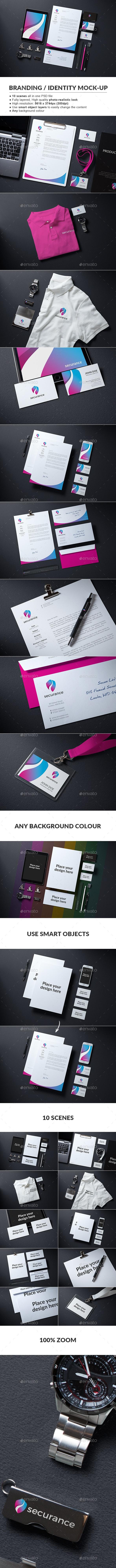 Branding / Identity Mock-up - Stationery Print