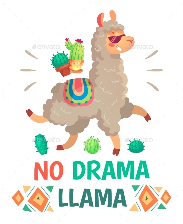 Motivation Lettering with No Drama Llama - Animals Characters