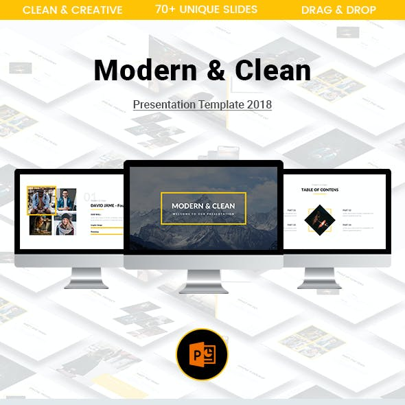 Modern & Clean Keynote Template 2018